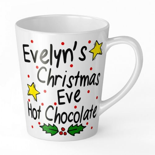 Personalised Christmas Eve Hot Chocolate Novelty Gift Latte Mug